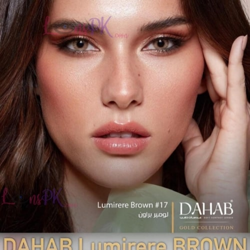 Buy Dahab Lumirere Brown Contact Lenses in Pakistan – Gold Collection - lenspk.com