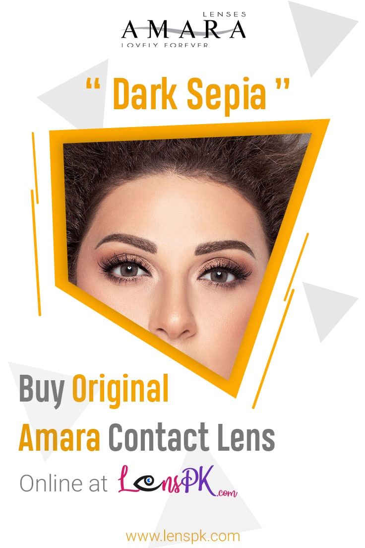 Amara Dark Sepia Eye Contact Lenses