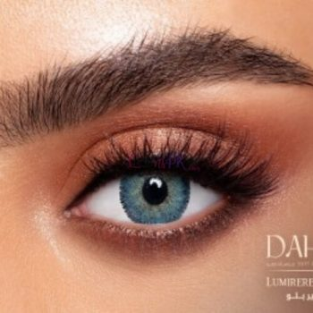 Buy Dahab Lumirere Blue Contact Lenses - Gold Collection - lenspk.com