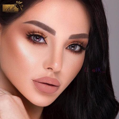 Buy Bella Glitter Gray Contact Lenses – Diamond Collection - Lenspk.com