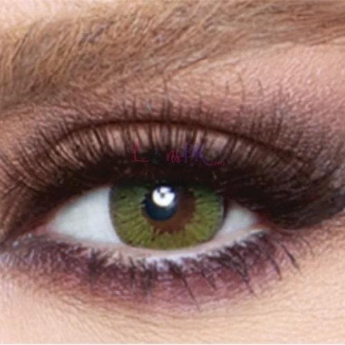 Buy Bella Lime Green Contact Lenses - Glow Collection - lenspk.com