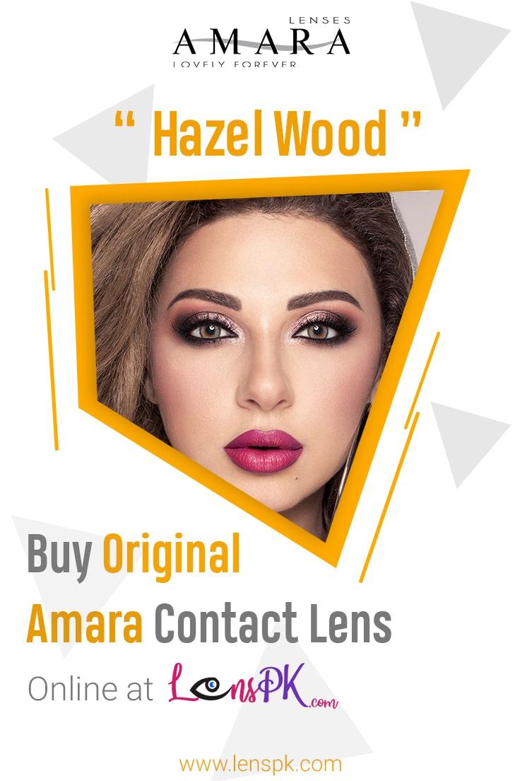 Amara Hazel Wood Contact Lenses