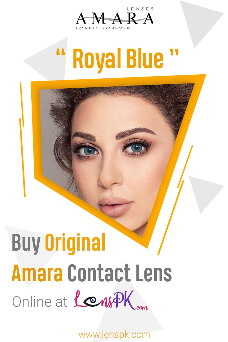 Royal Blue amara eye lenses